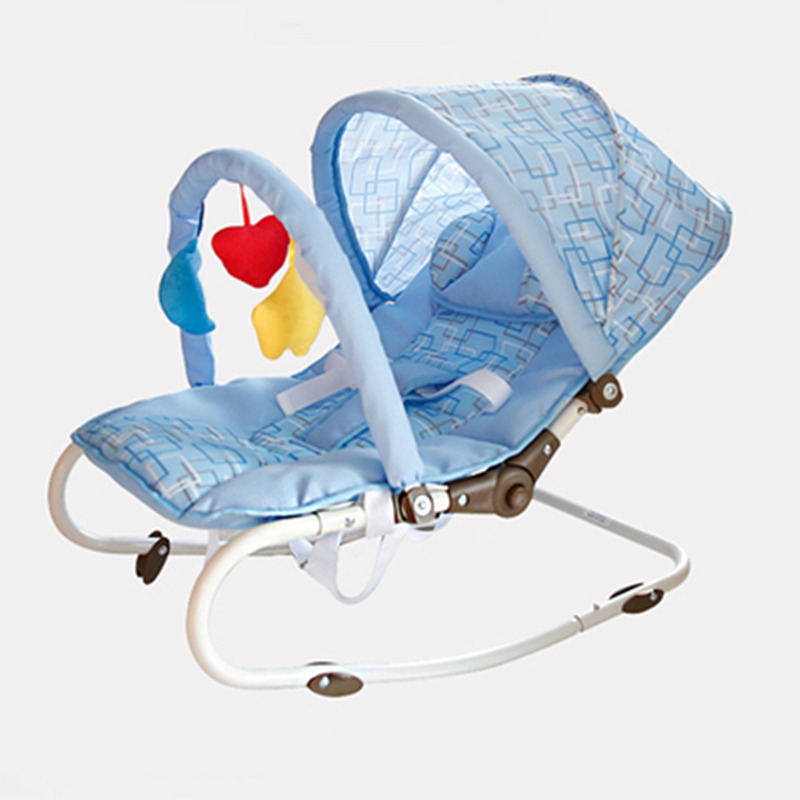 Fashion Portable Baby Rocking Chair, Multi-function Baby Swing Bed, Baby Rocker, Plus Mosquito Net and Summer Mat, Baby Cradle multipurpose portable safety baby rocking bed deck chair the cradle