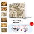 Печать Оболочки Для Macbook Air 11 13 Новый 12 Дюймов Случай Старого Мира карта Крышка Ноутбука Для Apple Mac Macbook Pro 15 Pro 13 Retina A1466