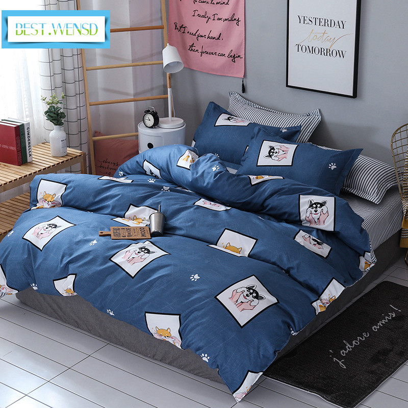 BEST.WENSD dekbedovertrek Cartoon animals bedding set bed sets sheets pillowcases luxury comforter set Lovely Wolf -ropa de camaBEST.WENSD dekbedovertrek Cartoon animals bedding set bed sets sheets pillowcases luxury comforter set Lovely Wolf -ropa de cama
