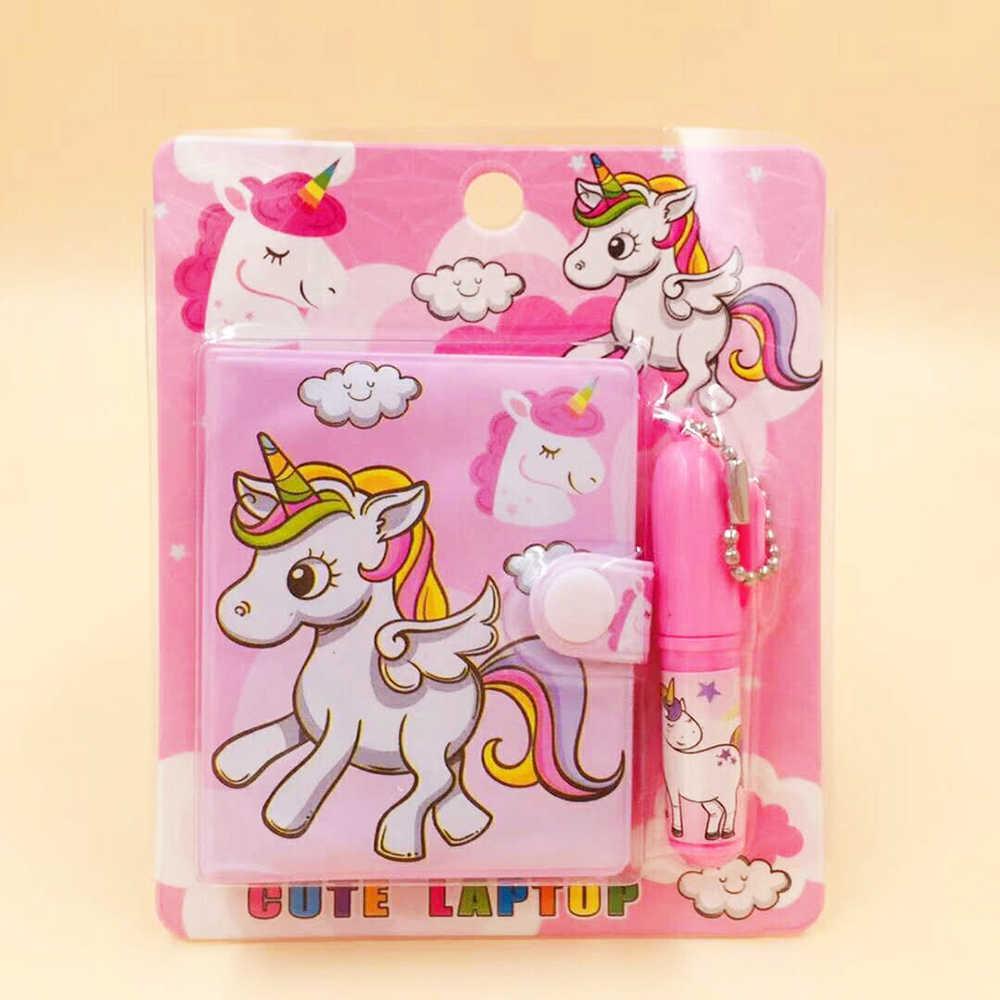 1 PC mignon licorne flamant rose bloc-Notes Notes autocollantes mémo bloc-Notes cahiers cadeau Kawaii papeterie