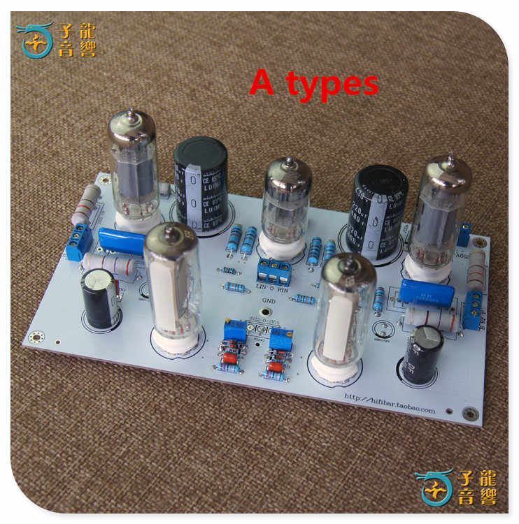 6N2/6N1 6P1 3W*2 stereo power amplifier finished board contains electronic tube amplifier board With 6E2 level indication