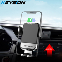 KEYSION 10W Car Mount Qi Wireless Charger For iPhone XS Max XR 8 Fast Charging Car Phone Holder For Xiaomi Mi9 S10 S9 S8 Note9 8