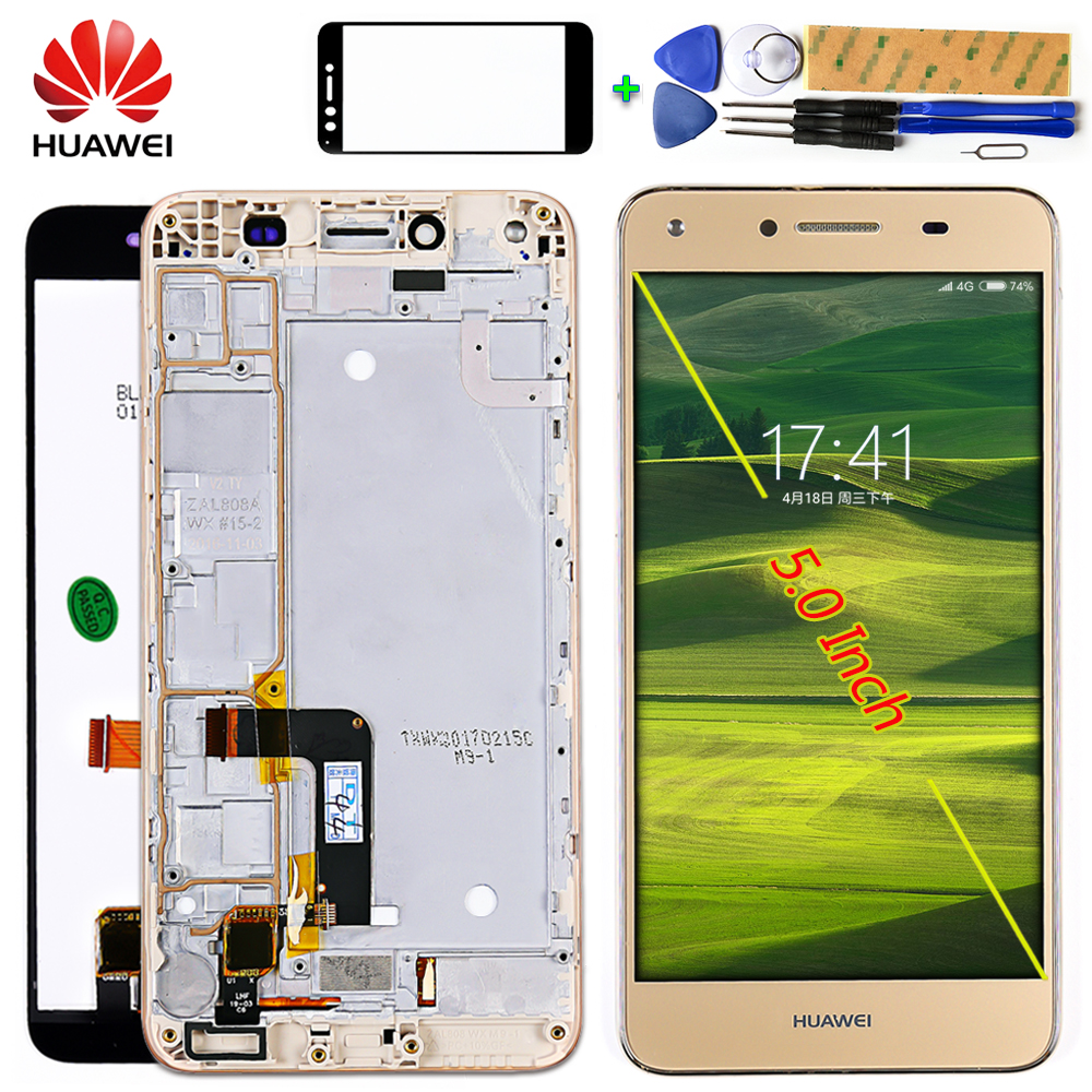 Huawei 5.0 Inch LCD Display For Huawei Honor 5A Y6 II Compact LYO-L01 LYO-L21 Touch Screen Digitizer Assembly Frame With Tools