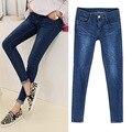 New 2017 Fashion Women Jeans Stretch Skinny Jeans Female Slim Pencil Pants Blue Denim Ladies Pants Plus Size E585