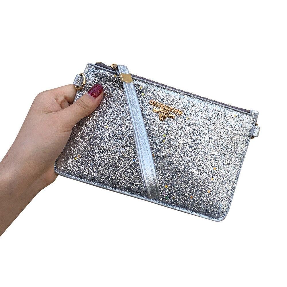 2018 Frauen Fashion Solid Farbe Pailletten Kette Messenger Schulter Tasche Handtasche Heißer Verkauf #09 Wohltuend FüR Das Sperma