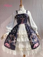 Hugne Sweet Cross & Flower Printed Sleeveless Lolita JSK Dress Plus Size Fairy Party Gown by Yiliya ~ Pre order