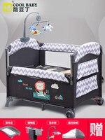 Coolbaby новорожденная кровать док кровать складная универсальная Европейская портативная игровая детская кровать