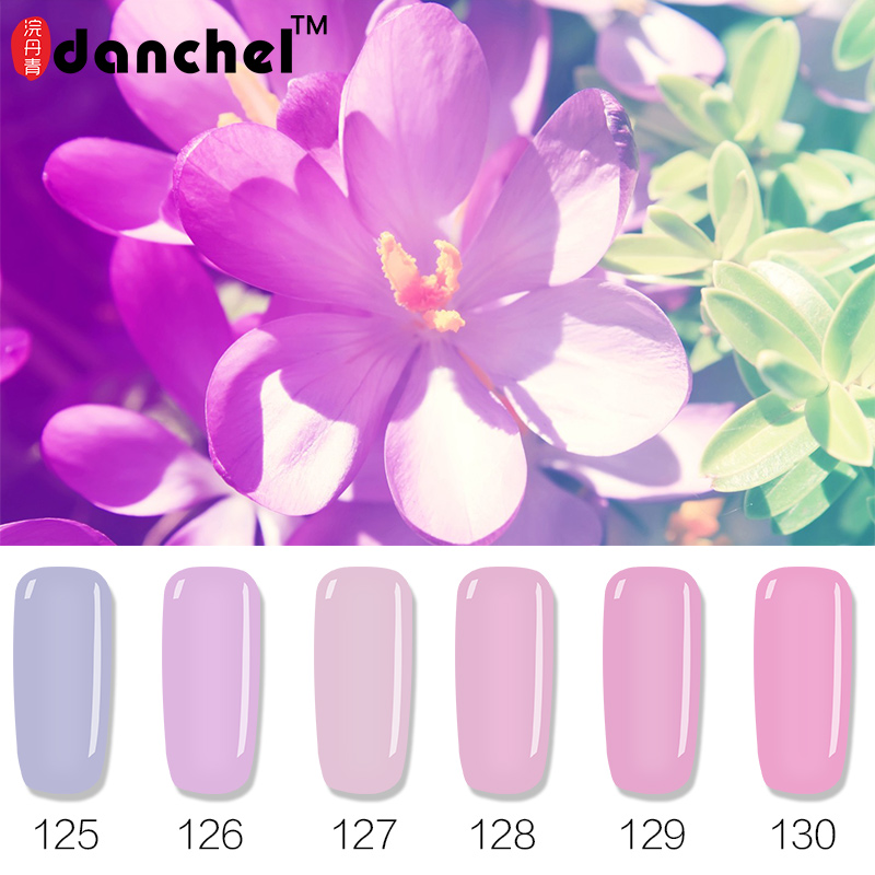 Danchel Gel Polish Pink Purple Serie LED UV Nail Gel Lak Gel de larga duración Barniz Gelpolish Vernis Primer Semi Permanente 12 colores
