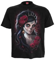 Spiral Direct DAY OF THE DEAD T SHIRT/Goth/Mexican/Sugar Skull/Rock/Tee/Top Gift Print T shirt,Hip Hop Tee Shirt 2019 hot tees