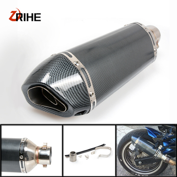 35-51MM Motorcycle Exhaust Pipe Muffler Modified Exhaust PipeFor Suzuki gsf 650 bandit GSX1400 gsf 1200 bandit GSF1250 bandit фото