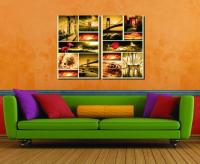 Direct Selling No Profit Selling Wholesale 2pcs Modular Picture The Setting Sun The Bridge The Sittingroom