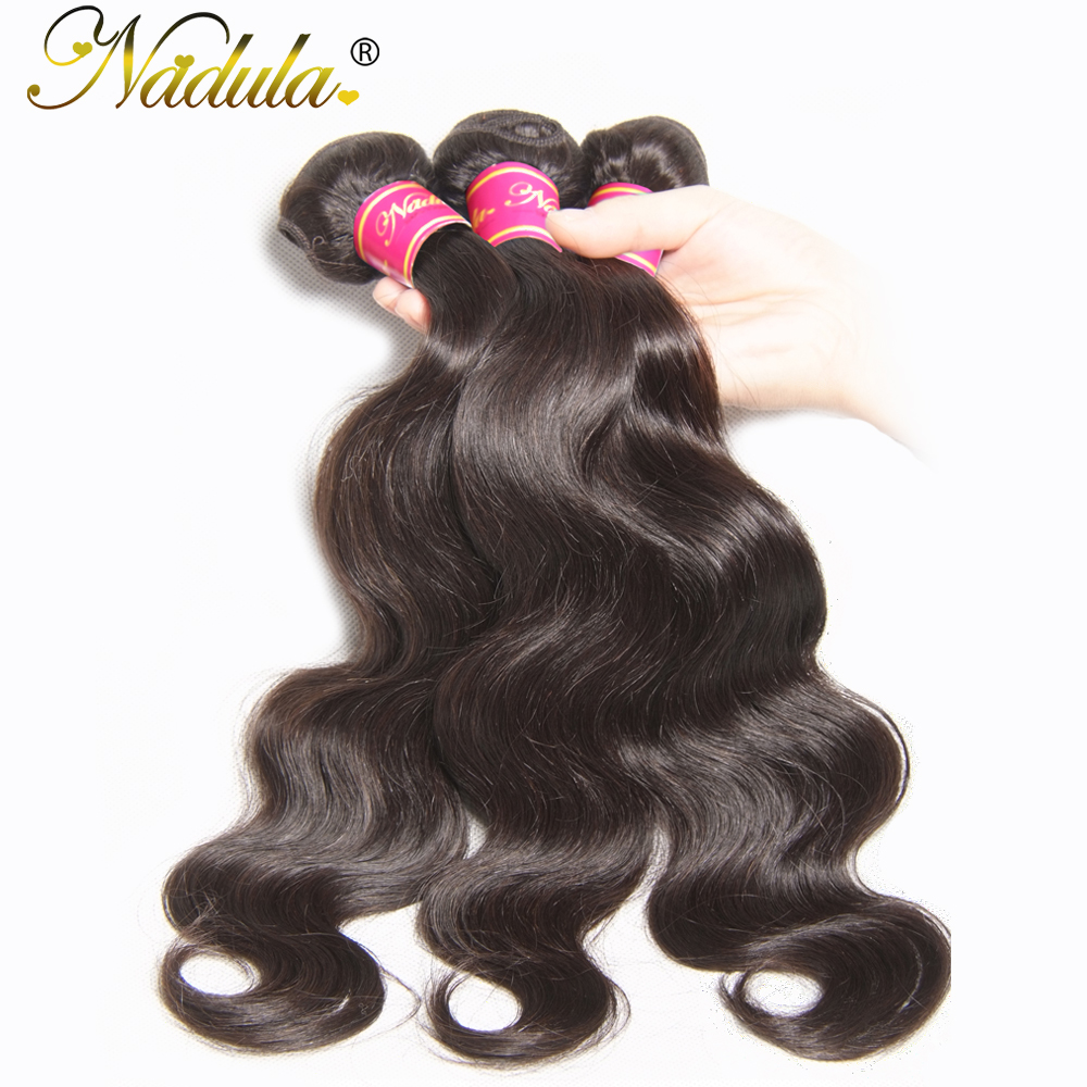 NADULA HAIR 8 30inch Malaysian Body Wave Hair Bundles 100 Human Weaves Non Remy Hair Natural
