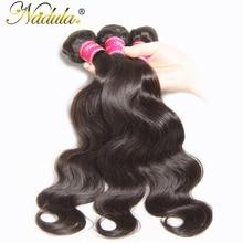 Nadula волос 8-30 дюймов Малайзии тела волновые пучки волос 100% человеческих ткет non-реми волос натуральный Цвет Можно покрасить наращивание волос