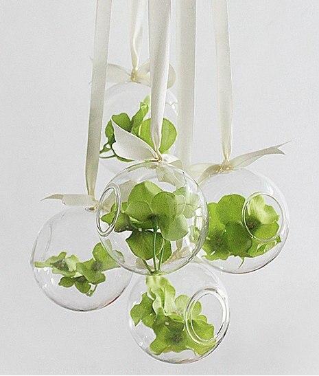 Fashion 8cm Round Hanging Glass Vase Handmade Succulent Terrarium