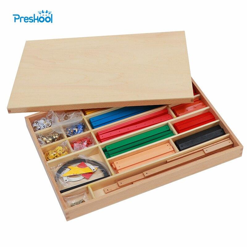 Montessori Enfants Jouet Géométrique Bâton Matériel de La Petite Enfance Préscolaire Brinquedos Juguets