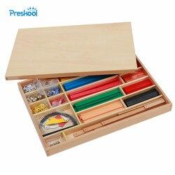 Montessori Kinder Spielzeug Geometrische Stick Material Frühen Kindheit Vorschule Brinquedos Juguets