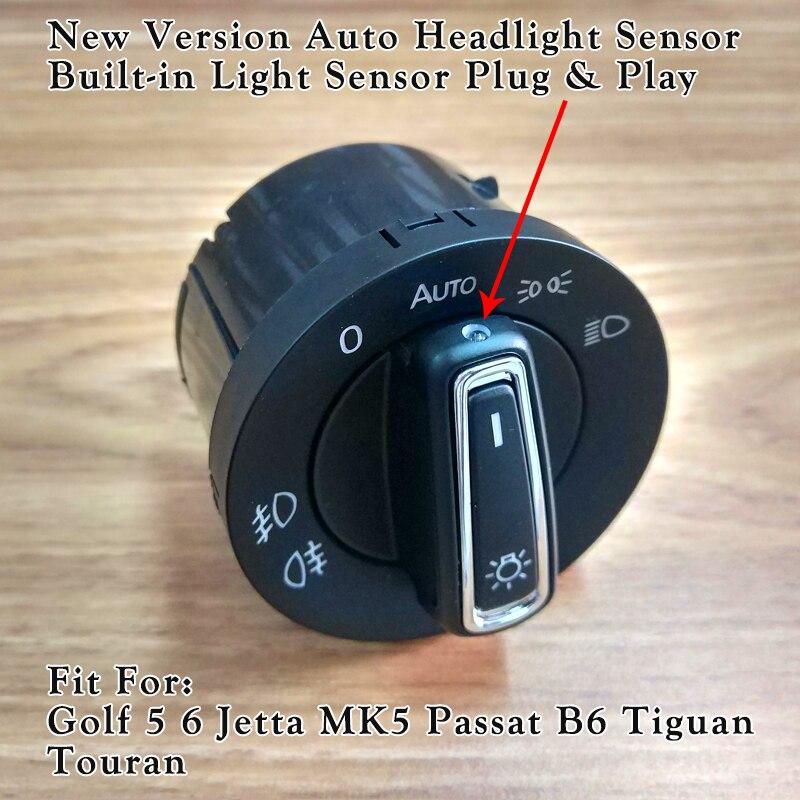 New Car Style Headlight Control Switch For VW JETTA GLI MK5 MK6 PASSAT B6 B7