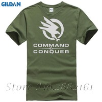 New 2017 Hot Summer T Shirt Printing Hot Selling Command Conquer Boy S Brand Solid Tshirts
