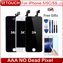 Best AAA No Dead Pixel LCD Pantalla for iPhone 5S iPhone 5c iphone 5 LCD touch Screen replacement full Digitizer Assembly