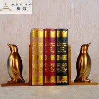 Bookcase study ornaments retro Penguin Bookends bookshelf Home Furnishing Decor Bookends Book American utility