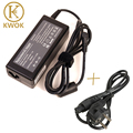 EU Power Cord + Laptop Adapter Charger for lenovo g570 20V 3.25A 65W for lenovo charger notebook g550 G360A G430 G450 G460
