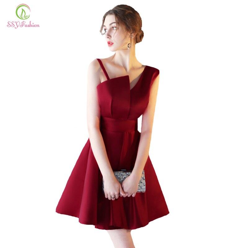 Aliexpress Com Buy New Design Simple But Elegant Short: Evening Dress 2017 SSYFashion New Simple Satin Short