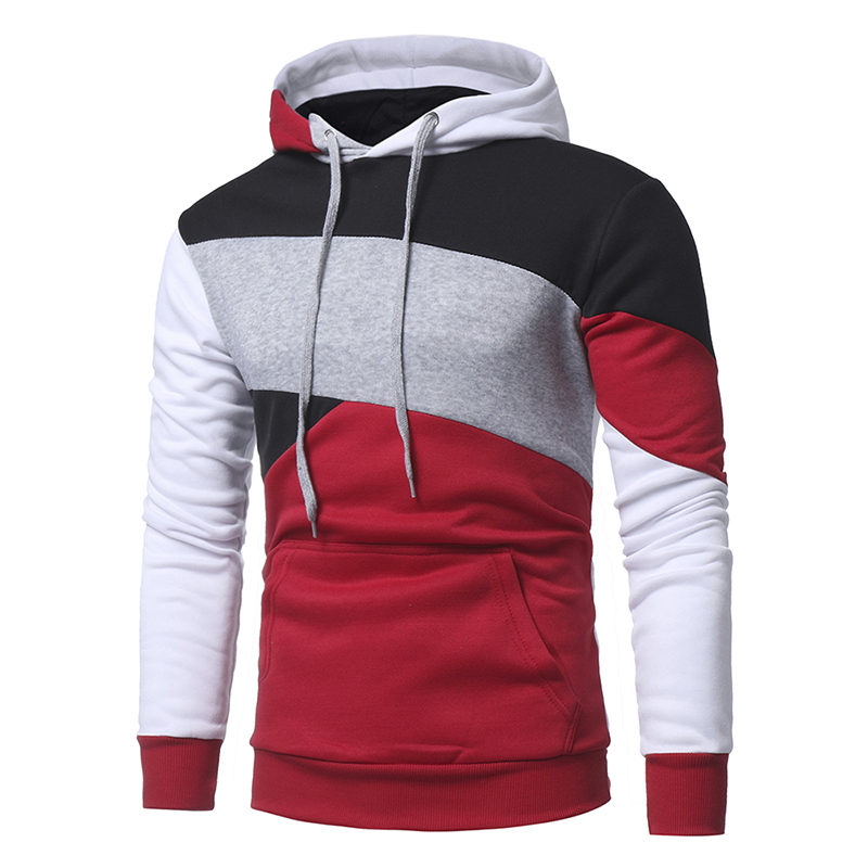 Mens Hoodies 2018 Newest Male Long Sleeve 3D Hoodies Color Patchwork Hoodie Casual Sweatshirt Slim Pullover Hood The Mens Robe
