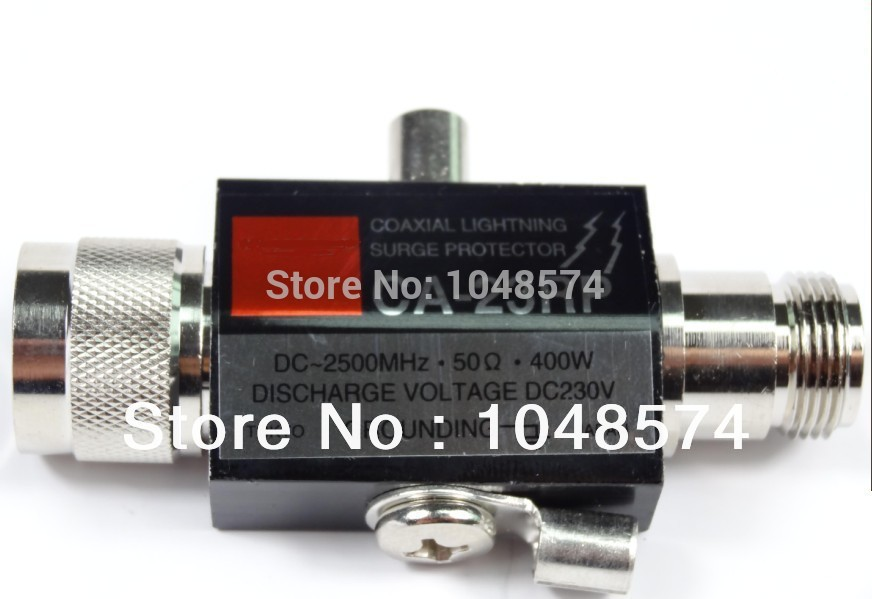 Free Shipping N Male to N Female CA-23RP Coaxial Lightning Surge Protector ArresterFree Shipping N Male to N Female CA-23RP Coaxial Lightning Surge Protector Arrester