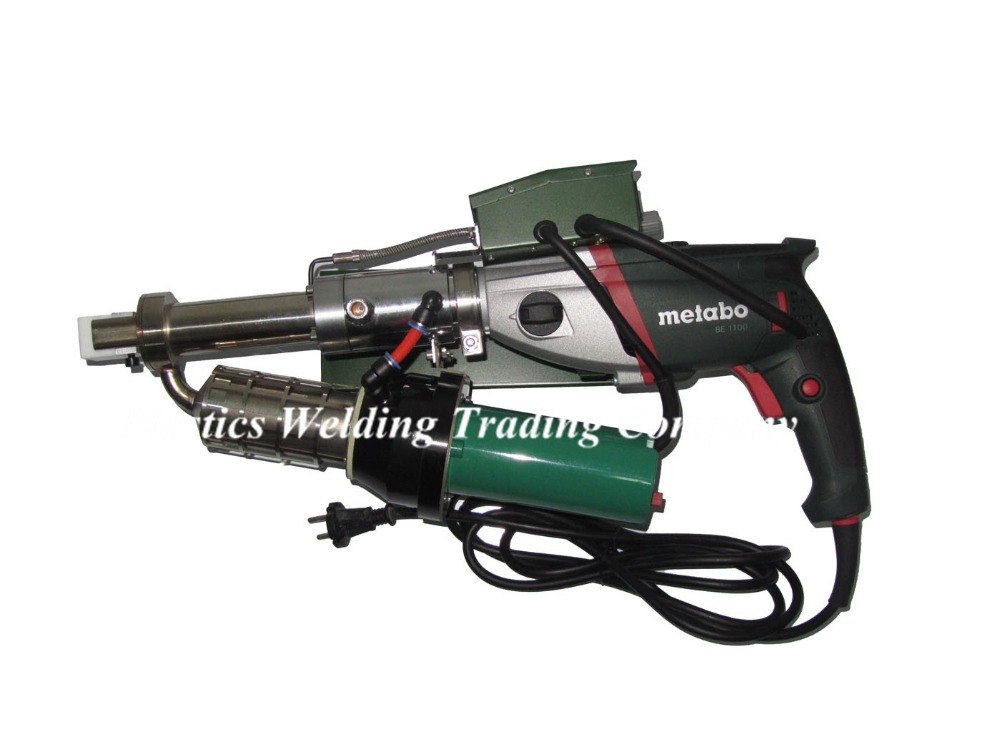New design powerful with German Metabo drive motor 1100W hand plastic extrusion welding tool / plastic welder YST610D