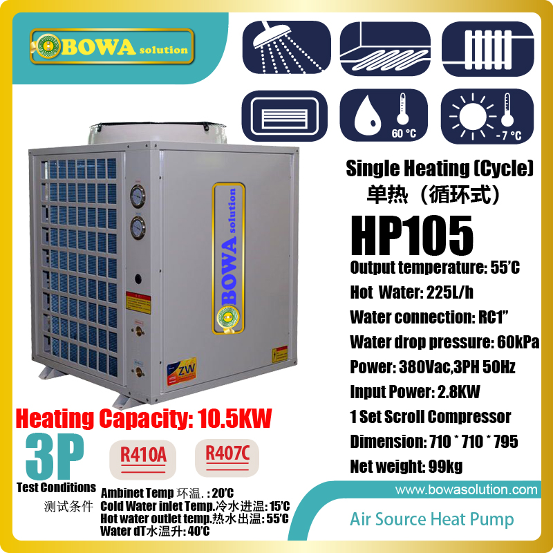 3P cycle heating air source heat pump water heater is economic choice to get hot water for kitchen and bathroom at stable temp. fqa11n90 to 3p
