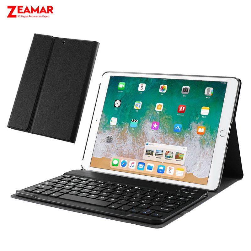 pu leather detachable bluetooth wireless keyboard case for new ipad 2018 2017 smart cover for. Black Bedroom Furniture Sets. Home Design Ideas