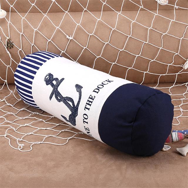 Cultura Marina funda de almohada marinero memoria algodón Lino cojín con interior para sofá dormitorio hogar decorativo