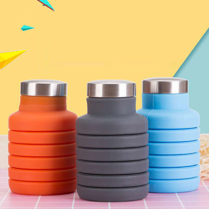 8352 Silicone Folding Water Bottle Kettle Drinking Collapsible Outdoor Sports