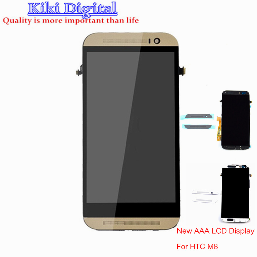 WOJOQ Original LCD Display For HTC One M8 Touch Screen Digitizer With Frame Assembly Replacement