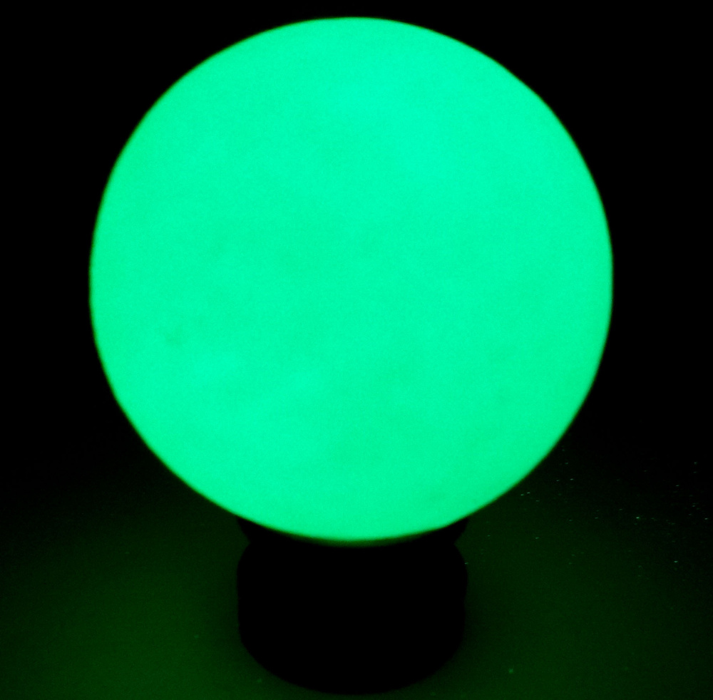60*60mm Green Glow in the green Calcite Glow In Luminous Crystal Ball The Dark Stone Ball Sphere Healing + BASE free shipping nils master hanski 35mm 3g 180 b ft glow in the dark