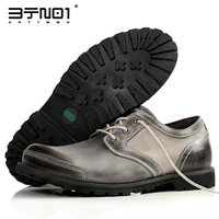 England Style Retro Mens Genuine Leather Lace Up Round Toe Oxfords Casual Chukkas Shoes Work Safety