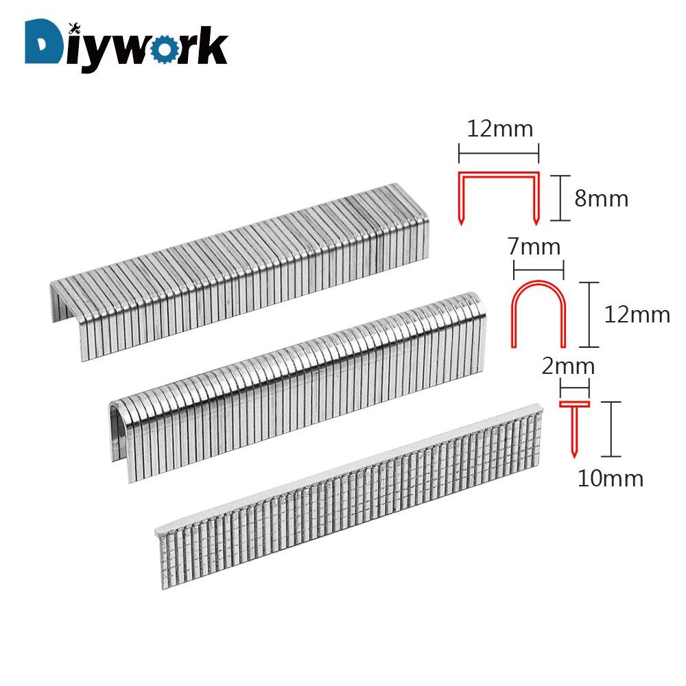 DIYWORK 1000Pcs Staple Gun Staples Manual Nailing U/ Door /T Shaped Home Renovation Woodworking Nail