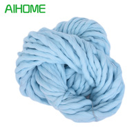 10pcs 20 Colors Soft Wool 100 Roving Bulky Thick Big Yarn Spinning Hand Knitting Thread Crochet