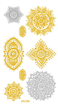Temporary Tattoos Waterproof Tattoo Stickers Body Art Painting For Party Decoration Etc Metalic Golden Slivery Lace Vintage