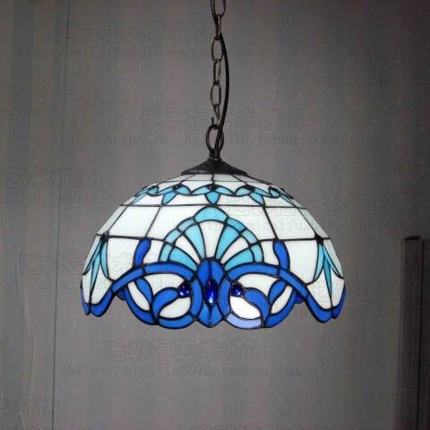 Tiffany Baroque vitrail suspendu Luminaire E27 110-240v chaîne pendentif lumières éclairage lampes pour maison salon salle à manger - 4