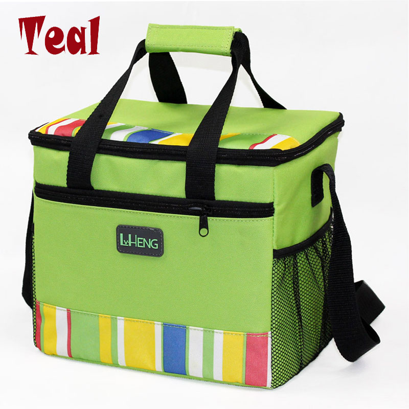 2017 new waterproof portable insulated lunch bag food picnic bags for women children <font><b>cooler</b></font> bag refrigerator thermo bag thermal