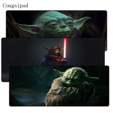 Congsipad Star War Yoda Large Gaming Lockedge Mouse Mat Keyboard Pad Desk Table For Computer Laptop Lol Gamer Mousepad