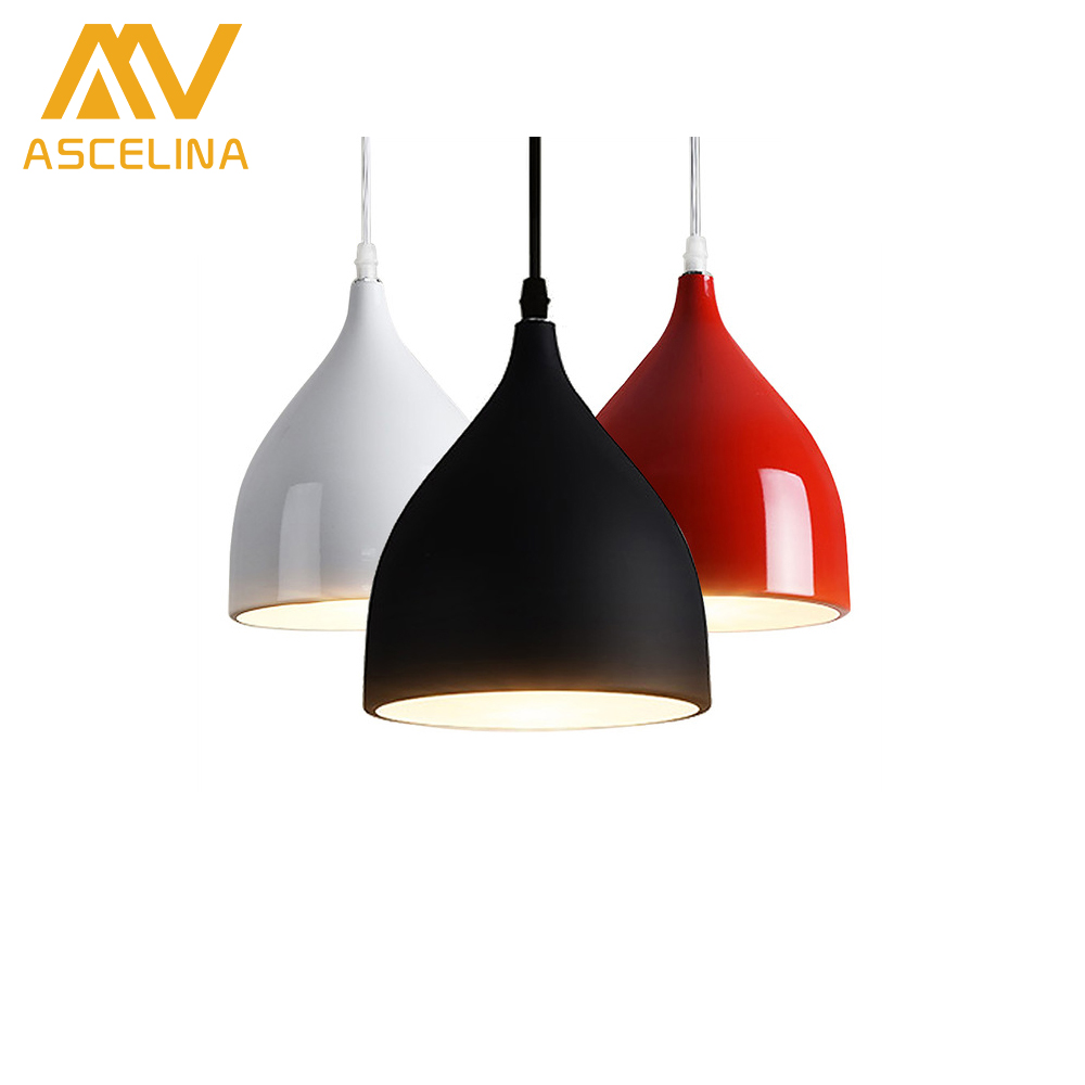 ASCELINA Modern Nordic Pendant lamps single-head mini-bar Pendant light for dining room/restaurant/Kitchen Hanging Light fixture philips наушники с оголовьем philips shl3060bk 00
