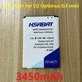 3450mAh BL-54SH Battery For LG Optimus G3 mini G2 D725 D722 D728 D729 D22 F300 L90 F7 F260 D410 D405N US780 P698 F320 g3s mini