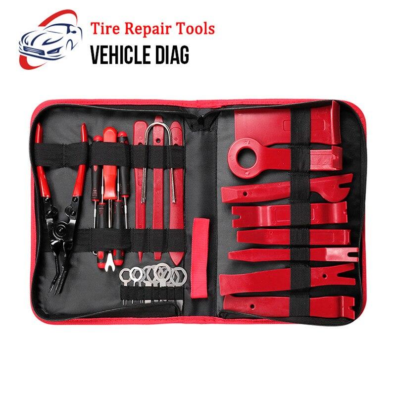 Nuevas herramientas de eliminación del Panel del coche de 28 piezas para la ventana de la puerta del vehículo radio fácil de llevar para la instalación Y la herramienta de reparación