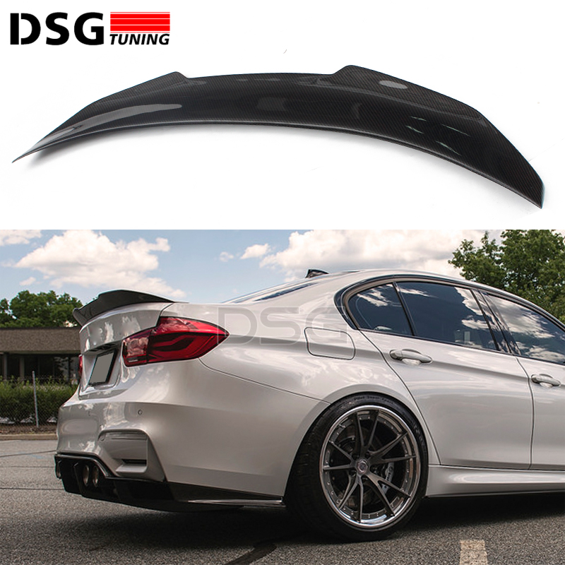 F80 M3 Carbon Fiber Rear Spoiler PSM Style Boot Lip For BMW F30 3 Series 320i 318d 316d 328i 335i Saloon 2012 +