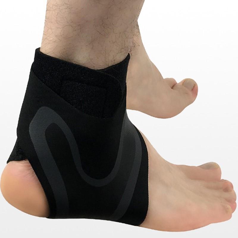 Эластичные поддержка лодыжки Регулируемый дышащий ног поддержка для спортивной защиты растяжения травм Баскетбол пятки обёрточная бумага...
