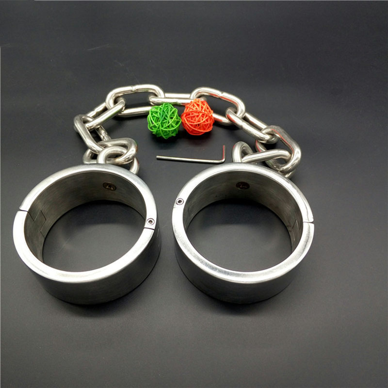 Rounded High 4cm 304 stainless steel leg cuffs sex slave metal sex games BDSM women bondage legcuffs adult sex toys for couples Rounded High 4cm 304 stainless steel leg cuffs sex slave metal sex games BDSM women bondage legcuffs adult sex toys for couples