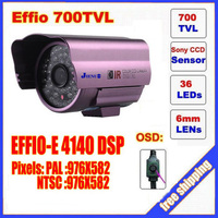 Free Shipping Security 1 3 Sony Effio CCD 700TVL OSD Menu 48 LED Outdoor Indoor Mini