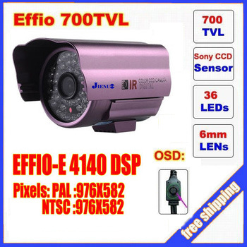 Free  shipping  Security 1/3 Sony Effio CCD 700TVL OSD menu 48 LED outdoor/indoor mini bullet camera IR 30m CCTV camera C567H